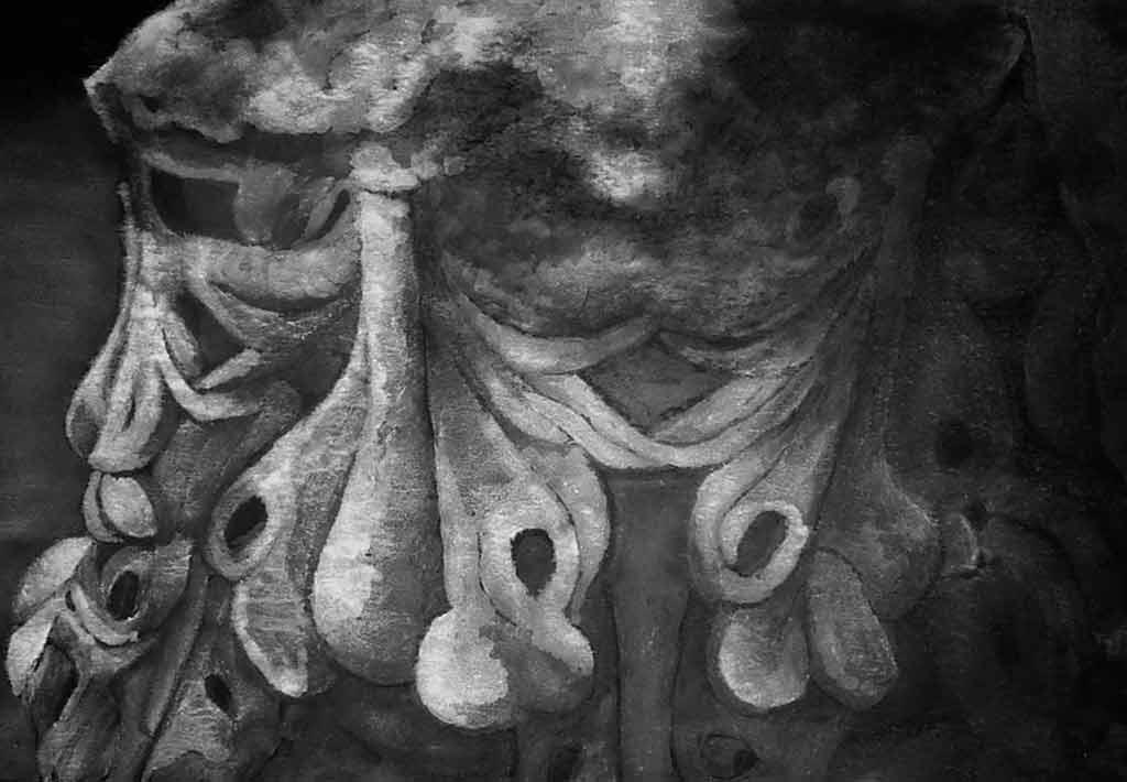 """קיסריה, כותרת, טיפקס על נייר גוויל, 100/70 ס""""מ. 2500 ש""""ח"""